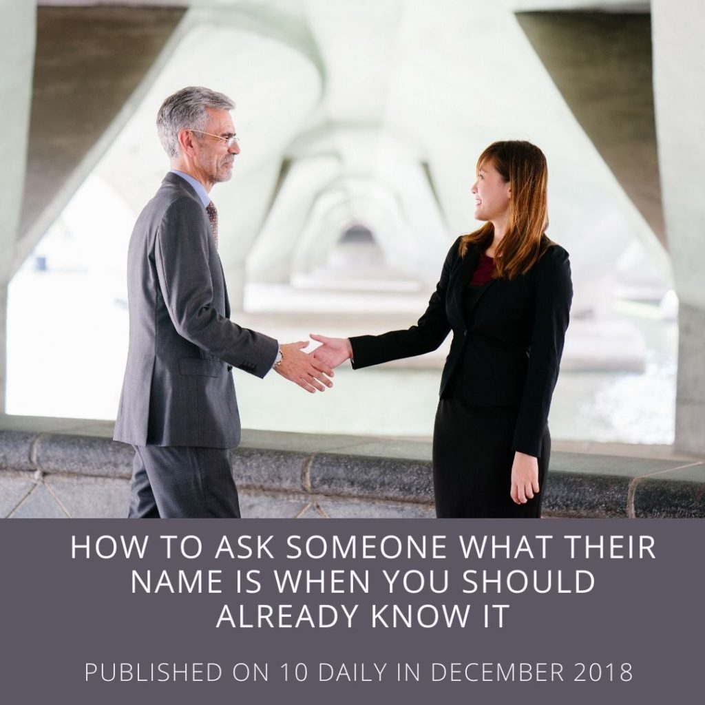Zarife Hardy Media - how to ask someone their name